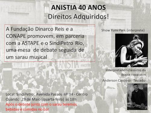 29 de Maio: Debate Anistia 40 anos – Direitos Adquiridos!
