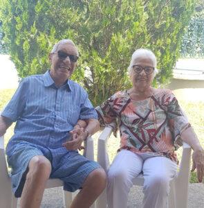 Ayrio Semeraro e Néa, que farão 65 anos de casados em janeiro