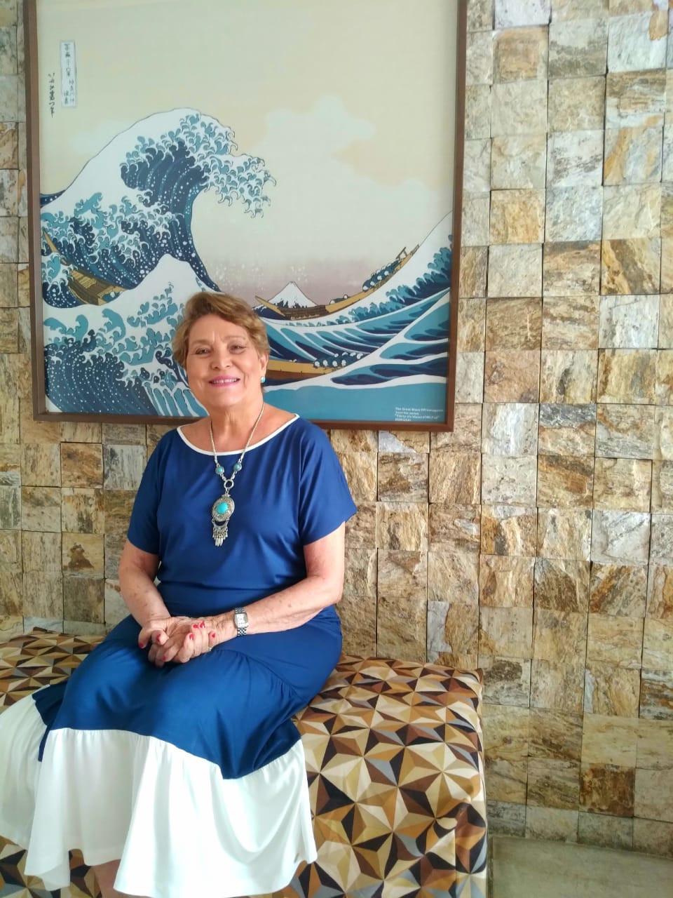 Gesilda Wanderley Parola, viúva de Ramiro Rodrigues Parola