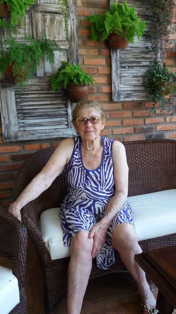 Jenny Bittencourt Azevedo, viúva de Morvan Azevedo
