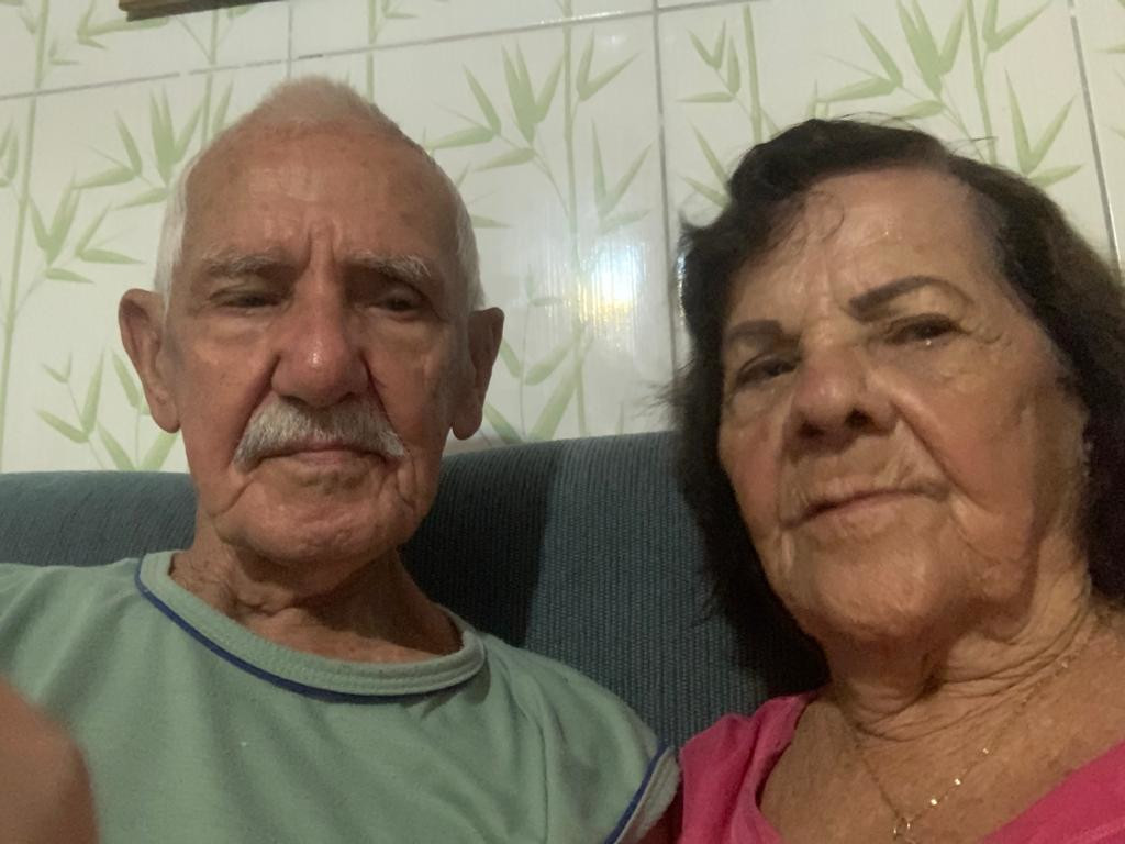 Manoel da Silva e a esposa Elza
