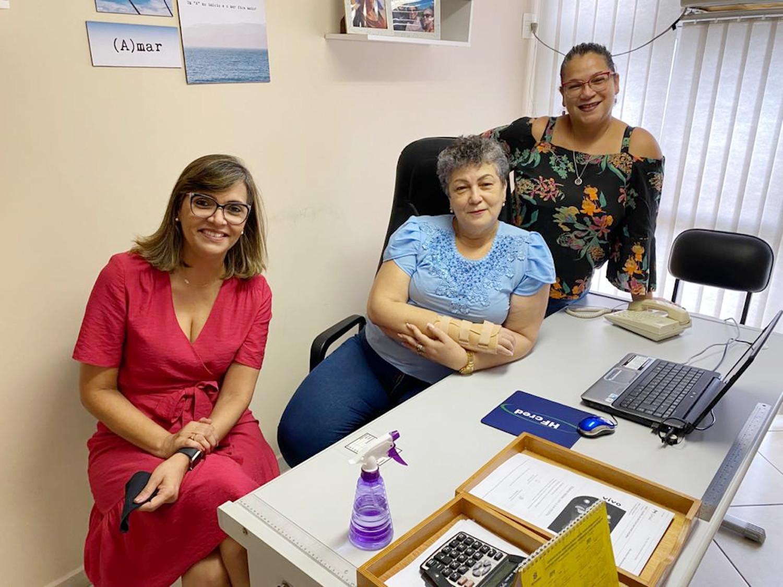 Dra.Cláudia Dalla Costa, Idinéa Nicacio da Silva e Ana Paula, equipe Conape