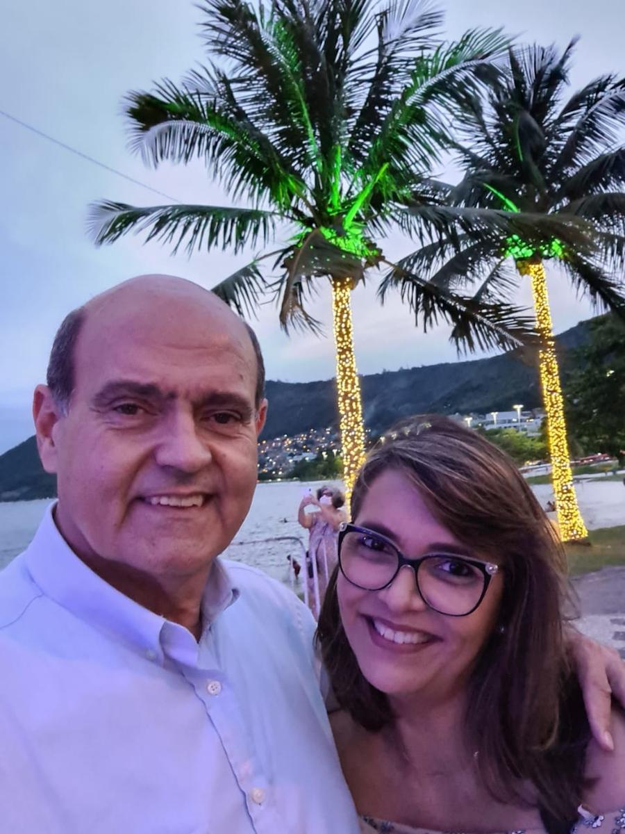 Claudia e seu marido Carlos Eduardo