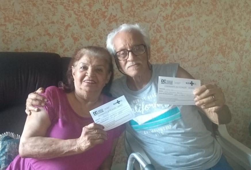 João Batista Rocha e a esposa Terezinha